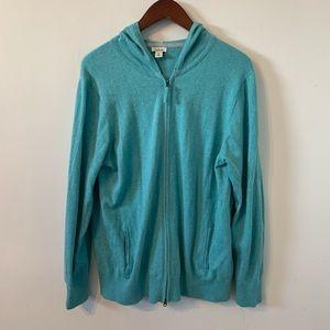 LL Bean Full Zip Hoodie Sweatshirt Size XL